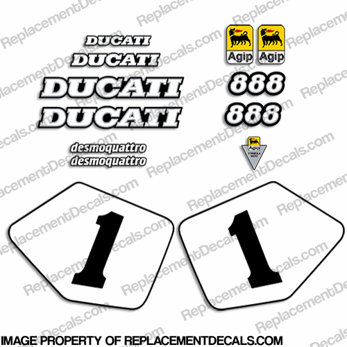 ducati 888 sp4 decal kit with number plates