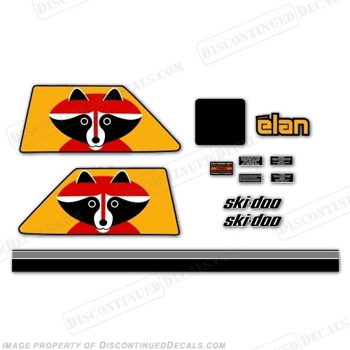 Elan 250 Raccoon Decal Kit - 1975