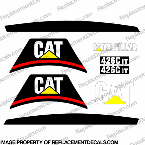 Caterpillar 426C Decal Kit