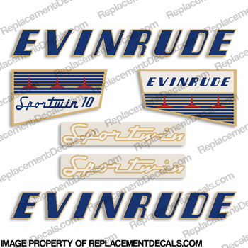 Evinrude 1956 10hp Decal Kit
