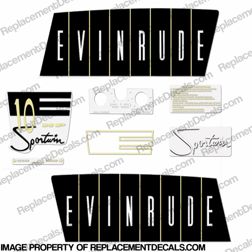 Evinrude 1960 10hp Decal Kit