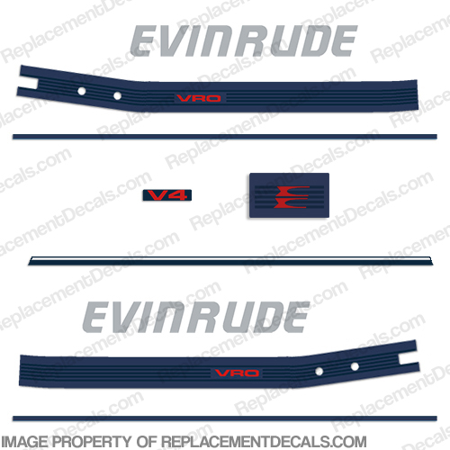 Evinrude 1986 120hp Decal Kit