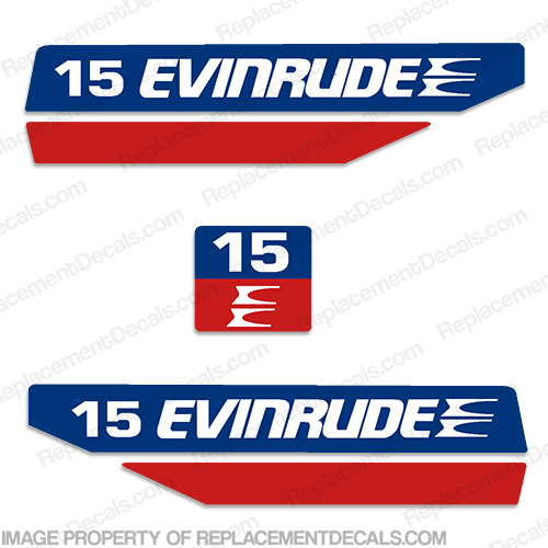 Evinrude 1970s 15hp Decal Kit