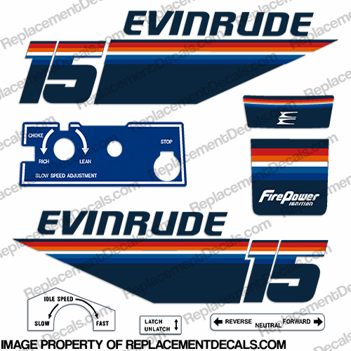 Evinrude 1978 15hp Decal Kit