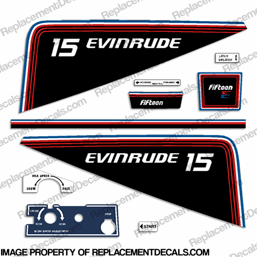 Evinrude 1981 15hp Decal Kit