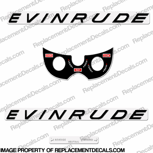 Evinrude 1963 18hp Decal Kit