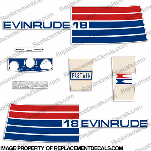 Evinrude 1973 18hp Decal Kit