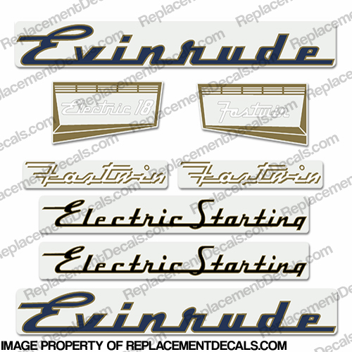 Evinrude 1957 18hp Electric Decal Kit