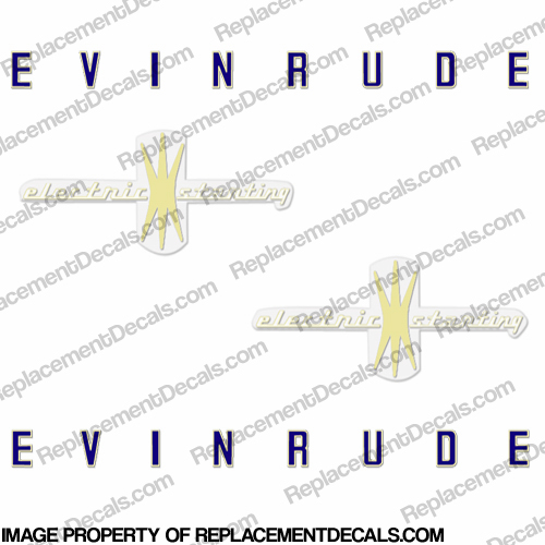 Evinrude 1958 18hp Electric Decal Kit
