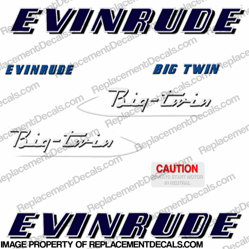 Evinrude 1953 25hp Decal Kit