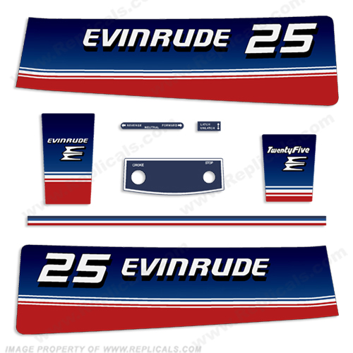 1980 Evinrude 25hp Decal kit