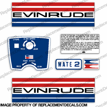 Evinrude 1973 2hp Decal Kit