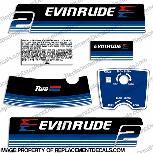 Evinrude 1979 2hp Decal Kit