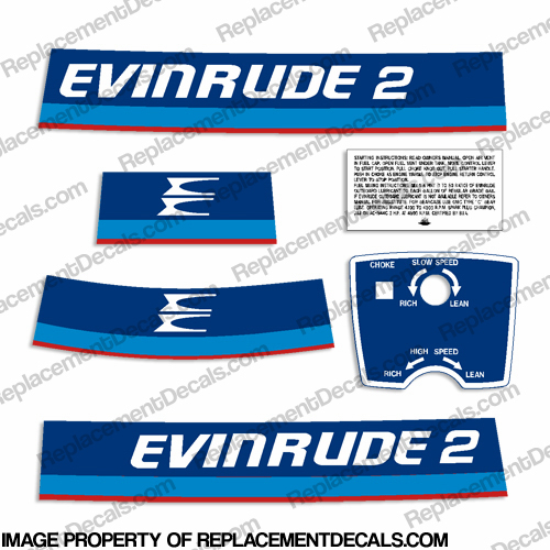 Evinrude 1975 2hp Decal Kit