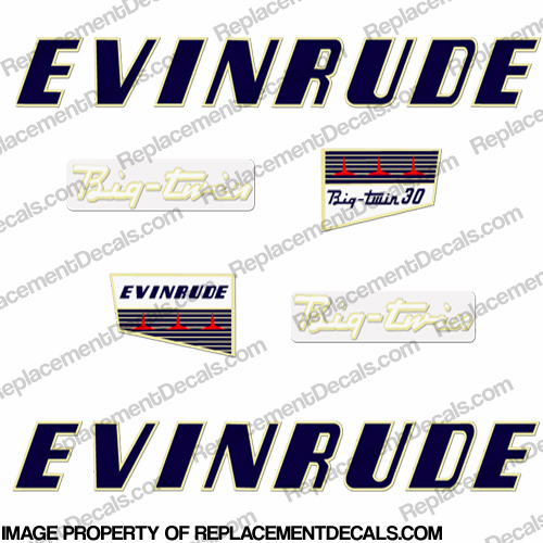 Evinrude 1956 30hp Decal Kit