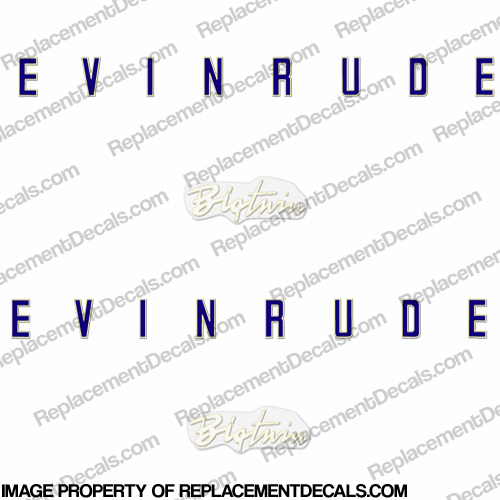 Evinrude 1958 35hp Decal Kit