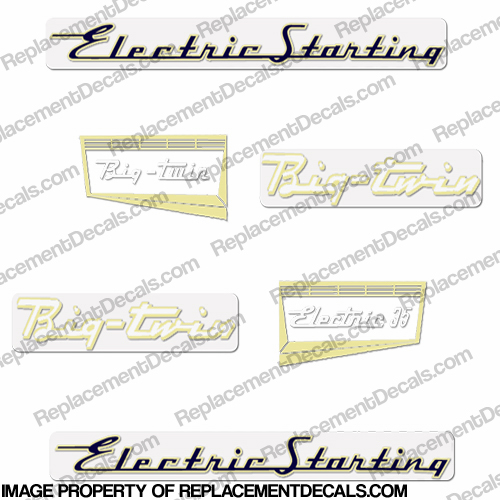Evinrude 1957 35hp Electric Decal Kit