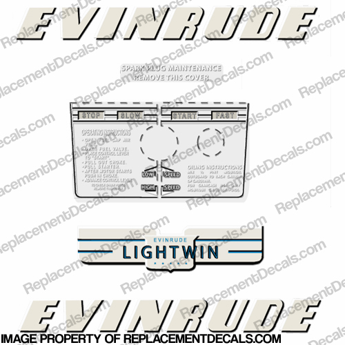 Evinrude 1952 3hp Decal Kit