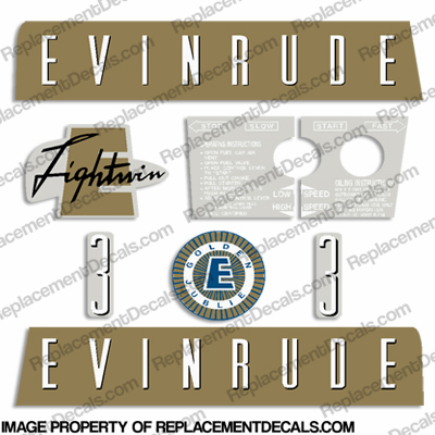 Evinrude 1959 3hp Decal Kit
