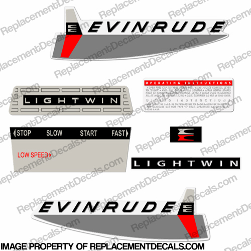 Evinrude 1963 3hp Decal Kit
