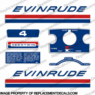 Evinrude 1969 4hp Decal Kit