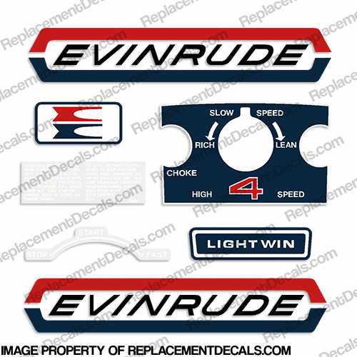 Evinrude 1970 4hp Decal Kit