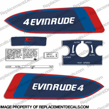 Evinrude 1976 4hp Decal Kit