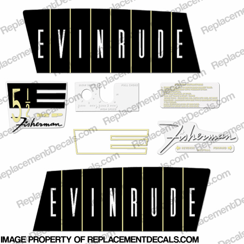 Evinrude 1960 5.5hp Decal Kit