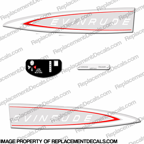 Evinrude 1964 5hp Decal Kit