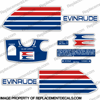 Evinrude 1973 6hp Decal Kit