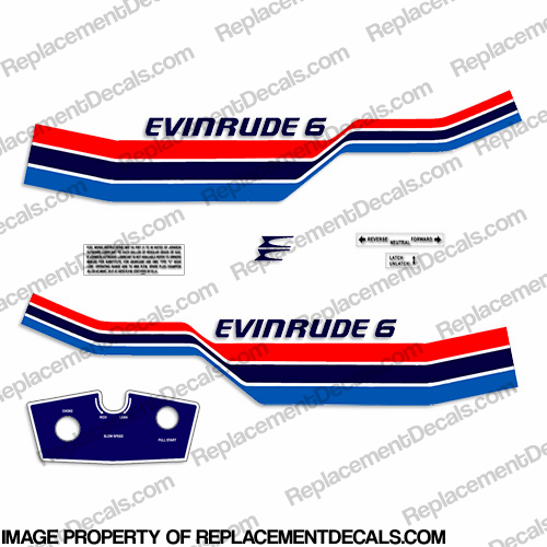 Evinrude 1977 6hp Decal Kit