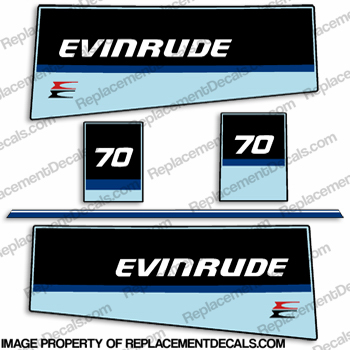 Evinrude 1984 70hp Decal Kit
