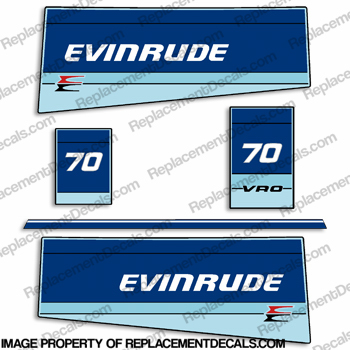 Evinrude 1984 75hp Decal Kit