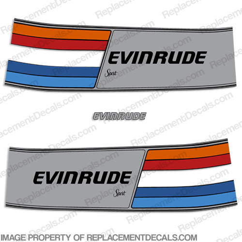 Evinrude 1981 75hp Decal Kit