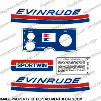 Evinrude 1969 9.5hp Decal Kit