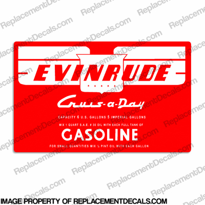 Evinrude 1953-1956 6 Gallon Fuel Tank Decal