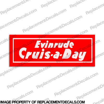 Evinrude 1950-1951 Crus-a-day Decal