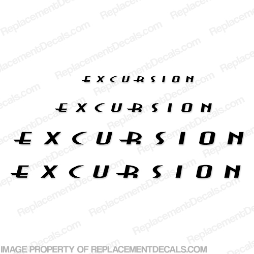 Excursion by Fleetwood RV Decal Package - Any Color!