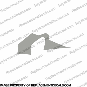 F4 Right Mid to Upper Fairing Decal (Silver)