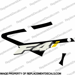 F4i Left Mid Fairing Decal (Black)
