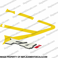 F4i Right Mid Fairing Decal (Yellow)