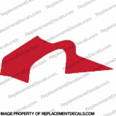 F4i Right Mid to Upper Fairing Decal (Red)