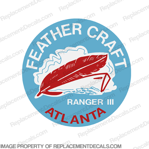 "Feather Craft Boat Decal Ranger III - 3.5"" Round"