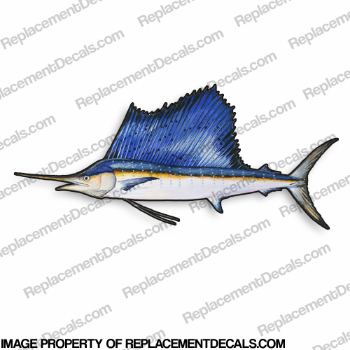 Sailfish Decal - 9""