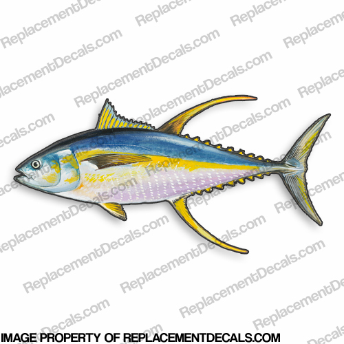 Yellowfin Tuna Decal - 9""