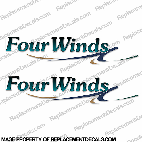 FourWinds RV Decals (Set of 2) four winds