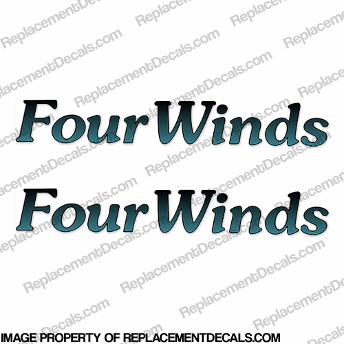 FourWinds RV Decals - Without Graphic (Set of 2) four winds