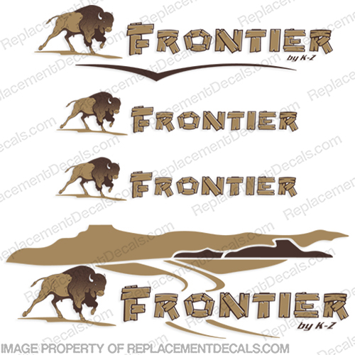 Frontier Trailer Camper RV Decal Package by K-Z k, z, recreational, vehicle