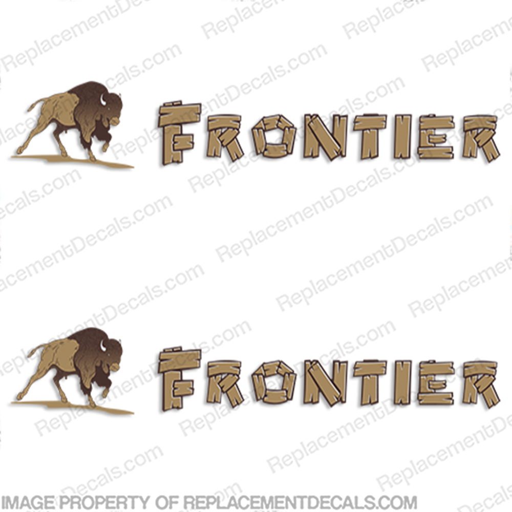 Frontier Trailer Camper RV Decals (Set of 2)