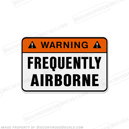 Funny Label Decal - Airborne!